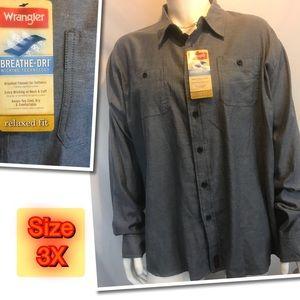 Wrangler Men's New Button Down shirt 3X
